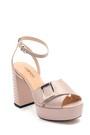 5638294779 Kadın Deri Topuklu Sandalet