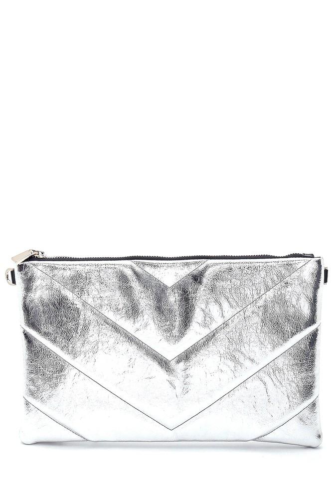 Gümüş Kadın Metalik Portföy Çanta 5638297735