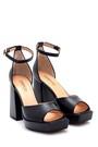 5638297450 Kadın Deri Yüksek Topuklu Sandalet