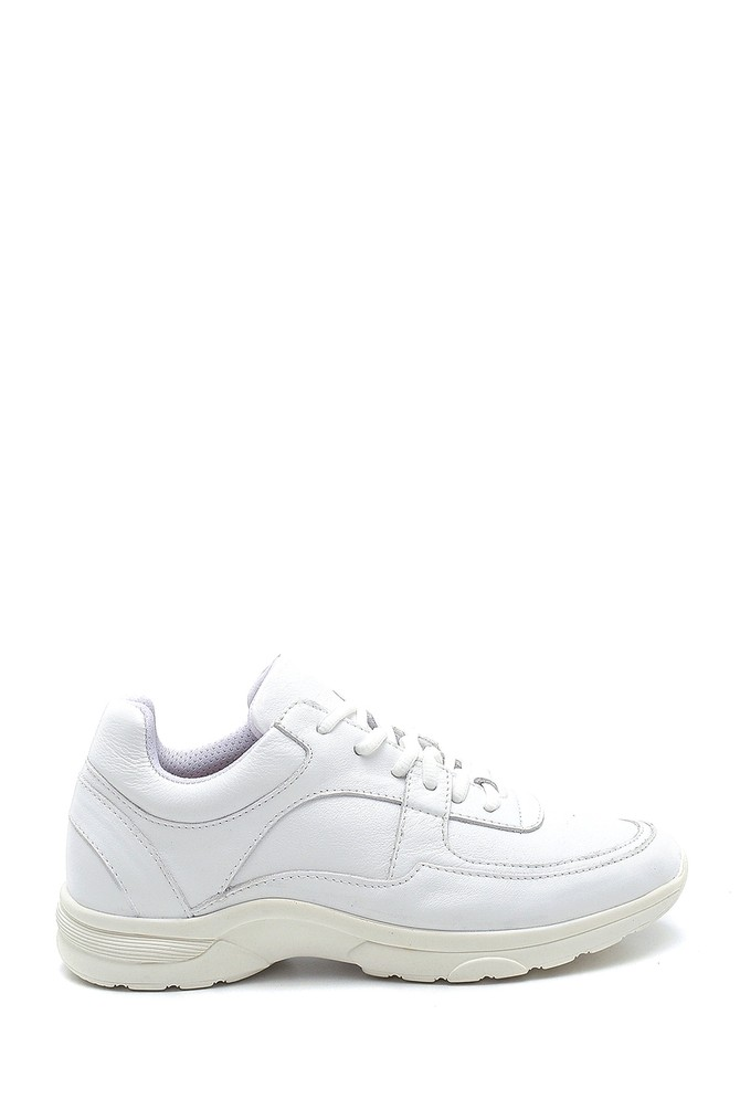 Beyaz Kadın Deri Sneaker 5638304829