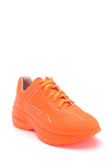 Turuncu Kadın Deri Sneaker 5638304844