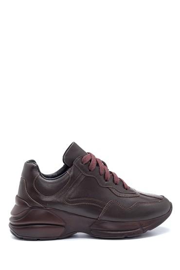 Kahverengi Kadın Deri Sneaker 5638304840