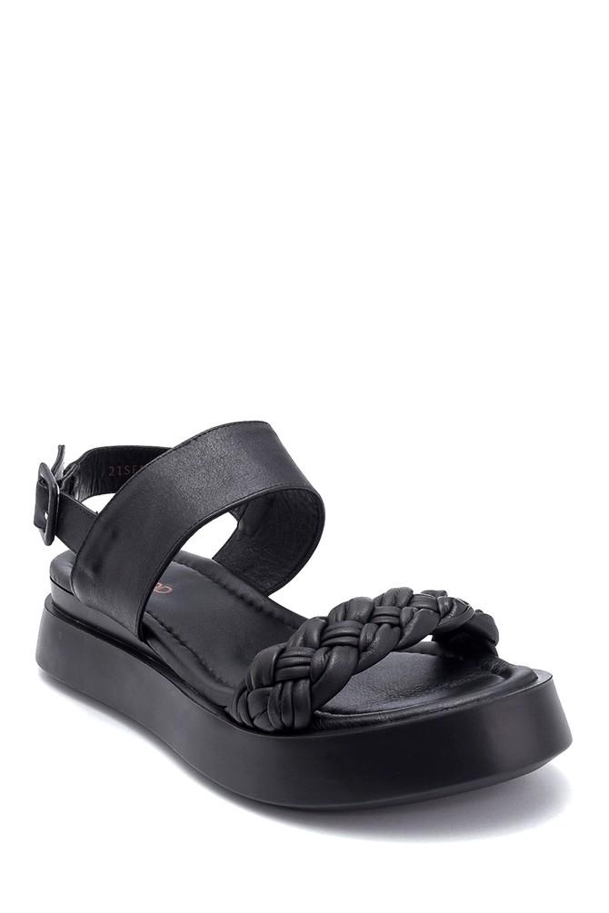 5638306377 Kadın Deri Sandalet