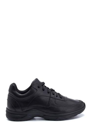 Siyah Kadın Deri Sneaker 5638308763