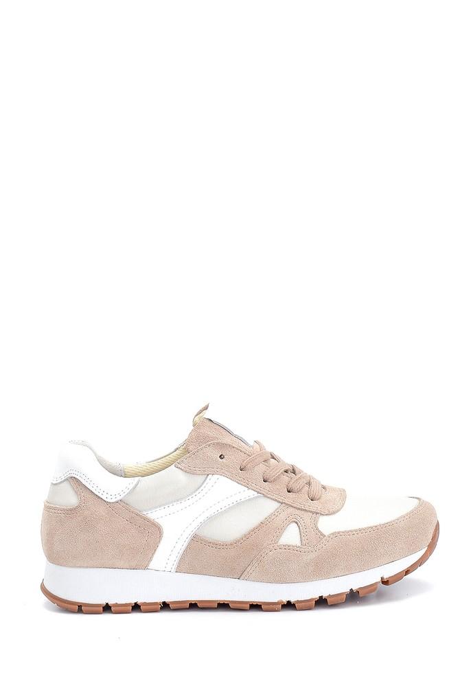 Bej Kadın Süet Deri Sneaker 5638272945