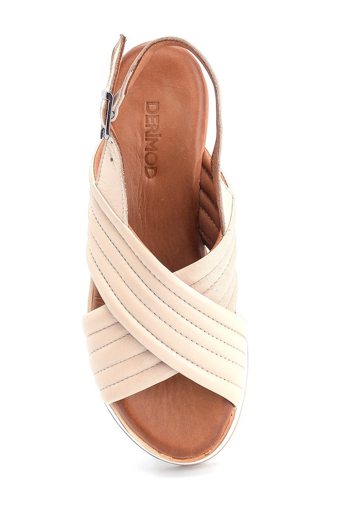 5638280084 Kadın Casual Deri Sandalet