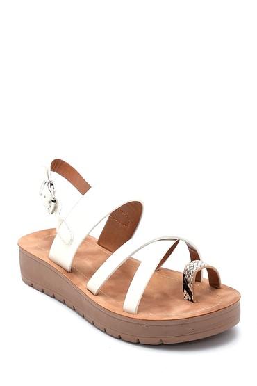 Beyaz Kadın Casual Sandalet 5638263006