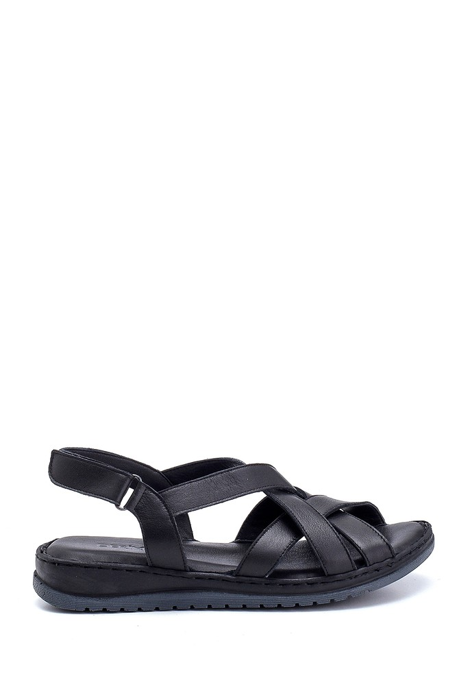 Siyah Kadın Casual Deri Sandalet 5638273700