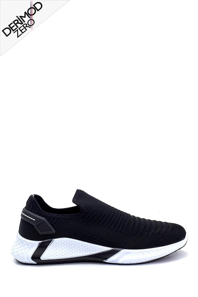 Siyah Erkek Deri Sneaker 5638259608