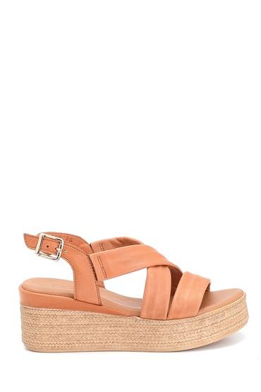 Taba Kadın Dolgu Topuk Deri Sandalet 5638280637