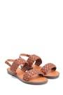 5638262966 Kadın Örgü Detaylı Casual Sandalet