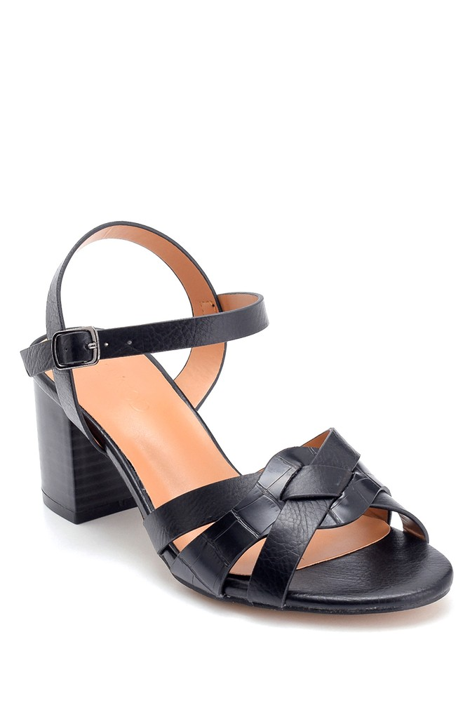 5638263422 Kadın Kalın Topuklu Sandalet
