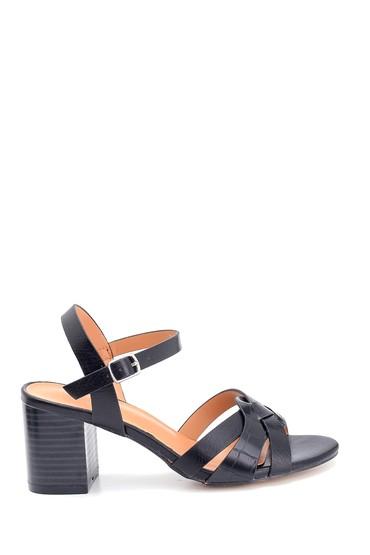 Siyah Kadın Kalın Topuklu Sandalet 5638263422