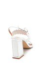 5638263477 Kadın Örgü Detaylı Kalın Topuklu Sandalet