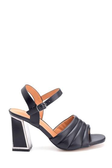 Siyah Kadın Yüksek Topuklu Sandalet 5638263482