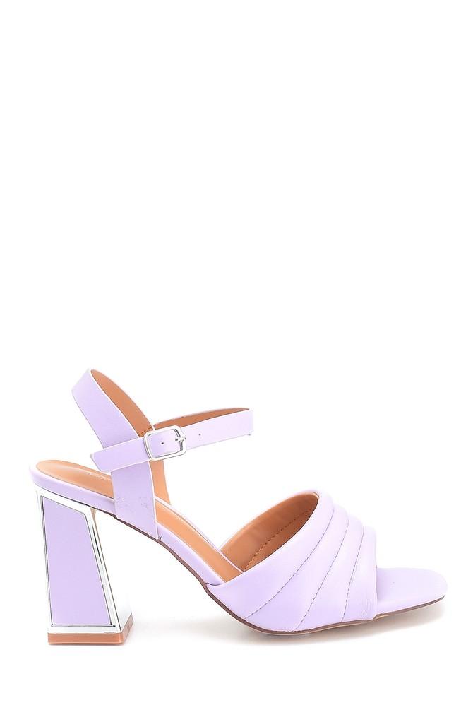 Lila Kadın Yüksek Topuklu Sandalet 5638263488