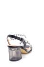 5638263498 Kadın Şeffaf Kalın Topuklu Sandalet