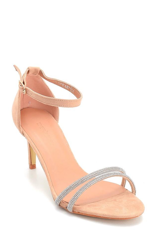 5638263602 Kadın Taşlı Topuklu Sandalet