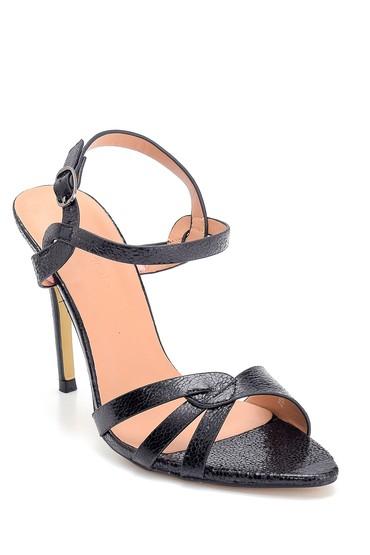 Siyah Kadın Yüksek Topuklu Sandalet 5638263645