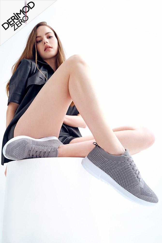 Gri Kadın Çorap Sneaker 5638266527