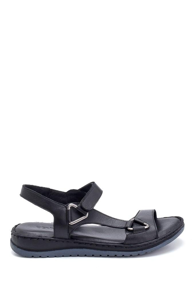 Siyah Kadın Comfort Deri Sandalet 5638273795
