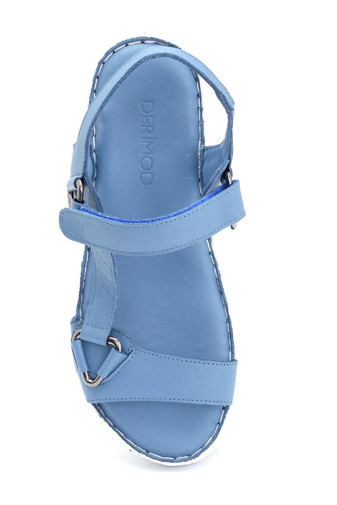 5638273793 Kadın Comfort Deri Sandalet