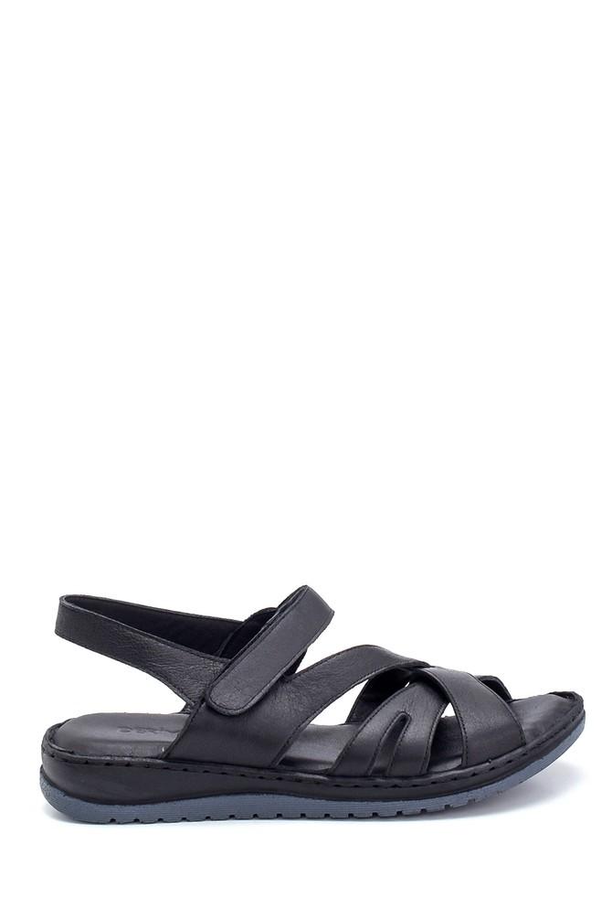 Siyah Kadın Comfort Deri Sandalet 5638273835