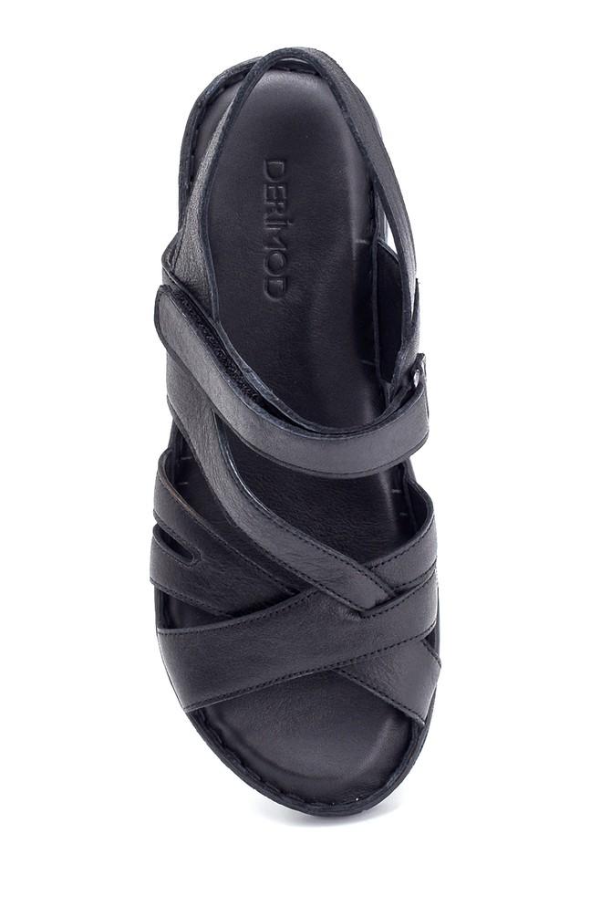 5638273835 Kadın Comfort Deri Sandalet