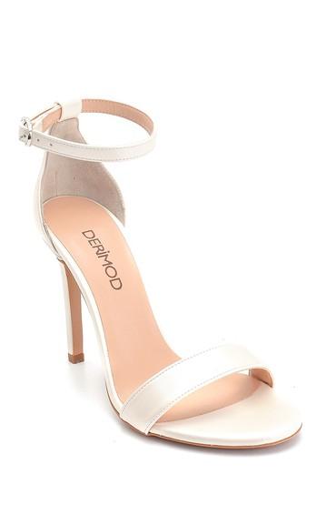 Beyaz Kadın Yüksek Topuklu Sandalet 5638283829