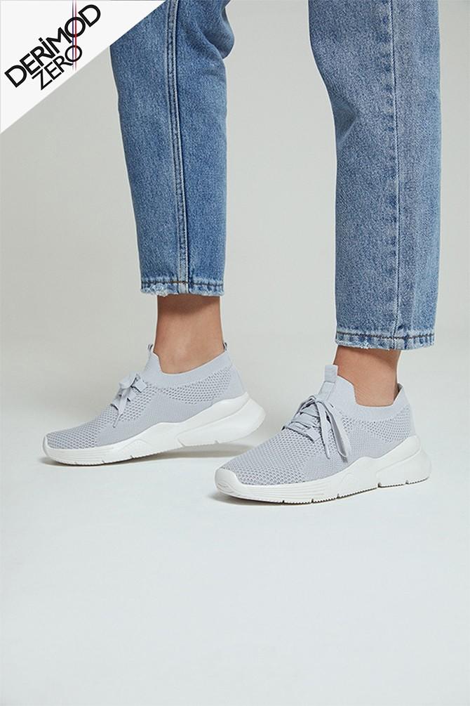 Gri Kadın Çorap Sneaker 5638280592