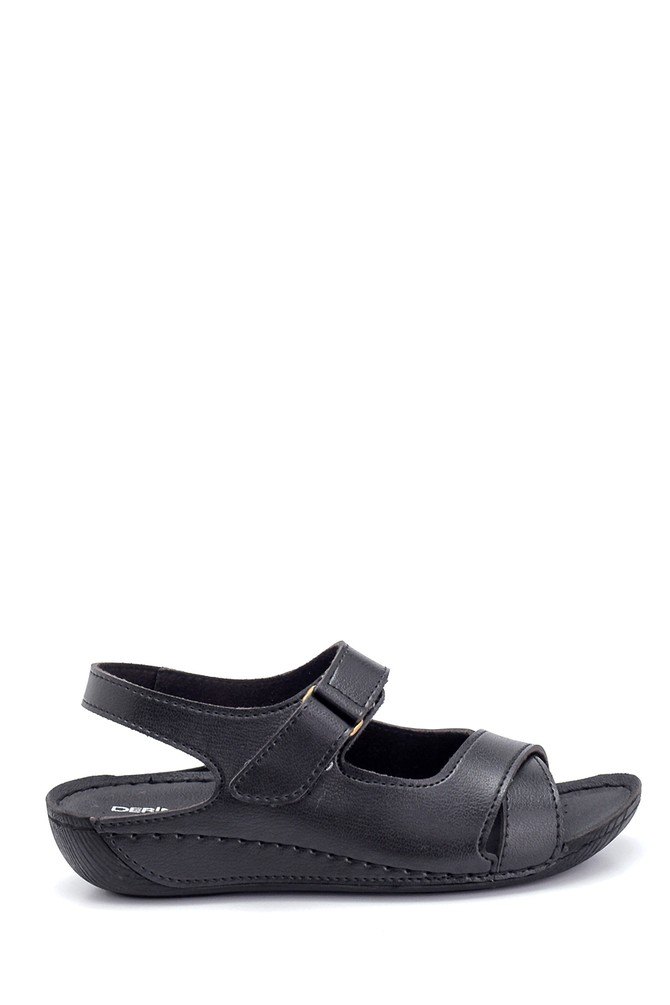 Siyah Kadın Dolgu Topuk Casual Sandalet 5638299645