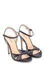 5638297411 Kadın Yüksek Topuklu Deri Sandalet