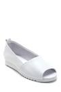 5638265368 Kadın Açık Burun Detaylı Deri Ayakkabı