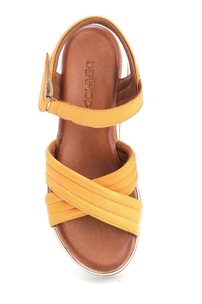 5638280102 Kadın Casual Deri Sandalet