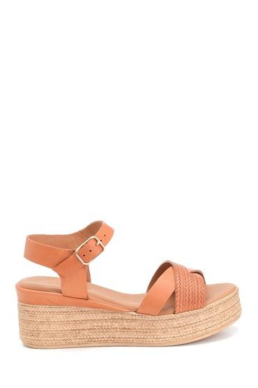 Taba Kadın Dolgu Topuk Deri Sandalet 5638280159