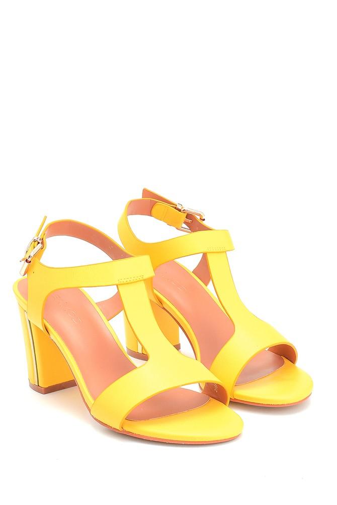 5638262561 Kadın Kalın Topuklu Casual Sandalet
