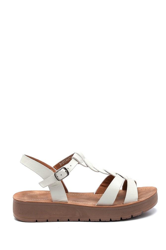 Beyaz Kadın Casual Sandalet 5638263121