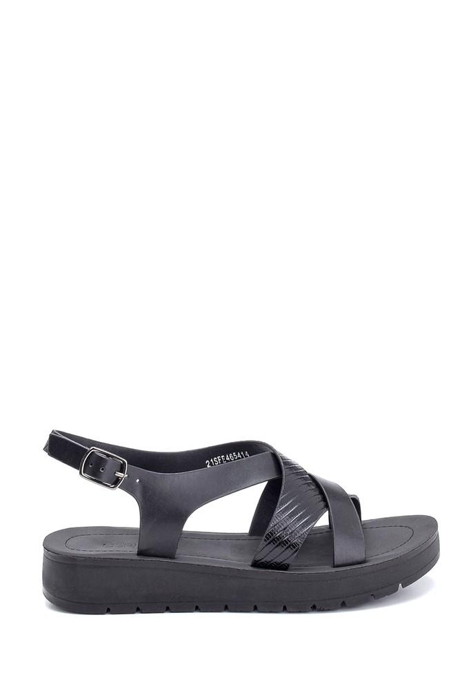 Siyah Kadın Casual Sandalet 5638263268