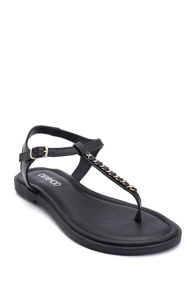 5638266265 Kadın Casual Deri Sandalet