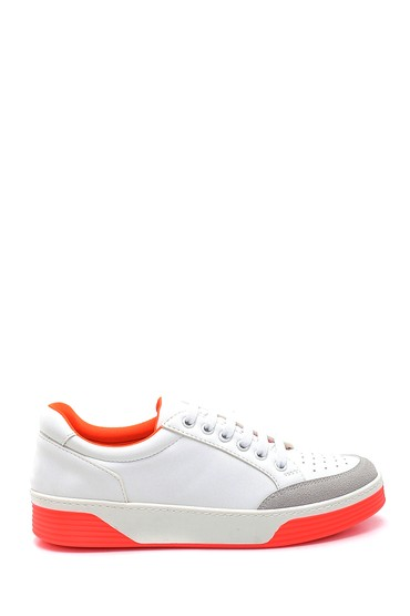Beyaz Kadın Fosfor Detaylı Sneaker 5638277328