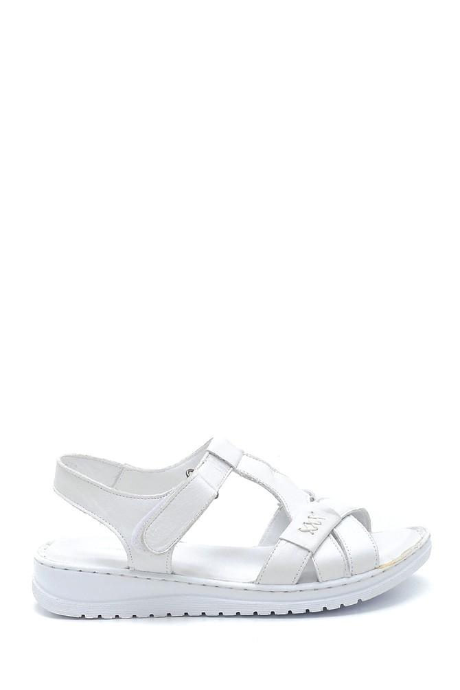 Beyaz Kadın Deri Sandalet 5638273668