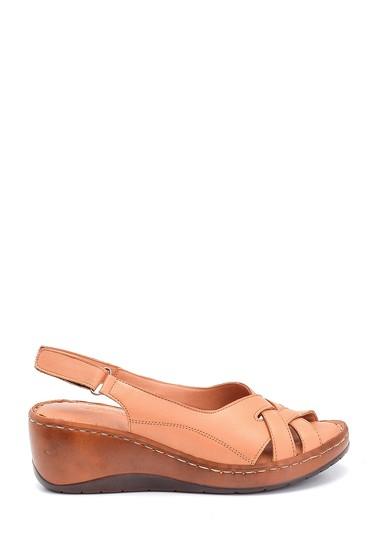 Taba Kadın Comfort Dolgu Topuk Deri Sandalet 5638273856