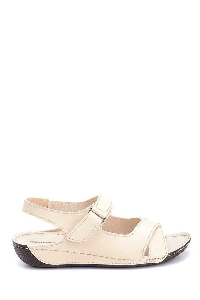 Bej Kadın Dolgu Topuk Casual Sandalet 5638305796