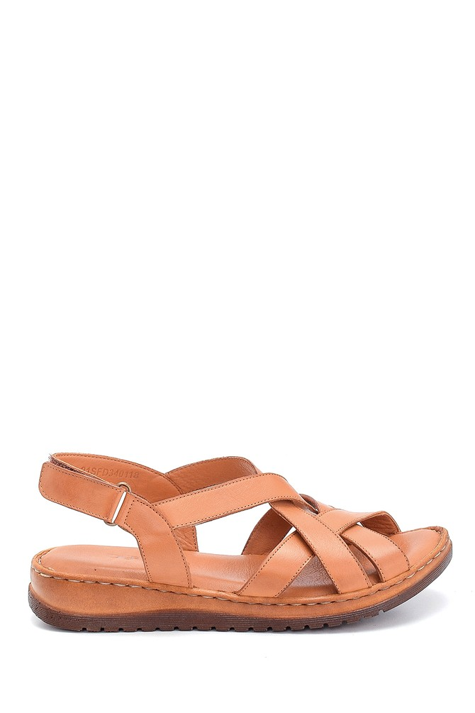 Taba Kadın Casual Deri Sandalet 5638273695