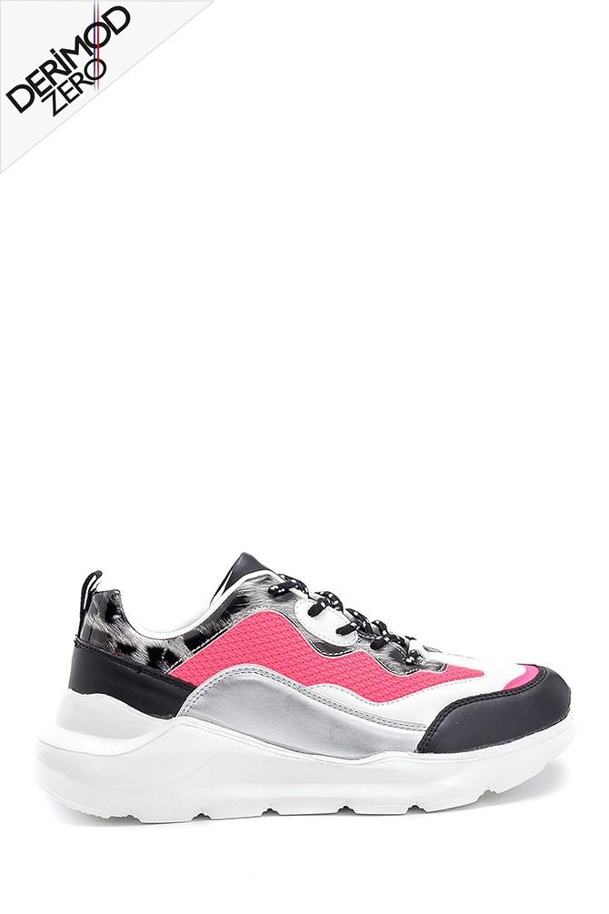 Pembe Kadın Kumaş Detaylı Sneaker 5638301234