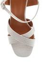 5638262543 Kadın Kroko Baskılı Kalın Topuklu Sandalet