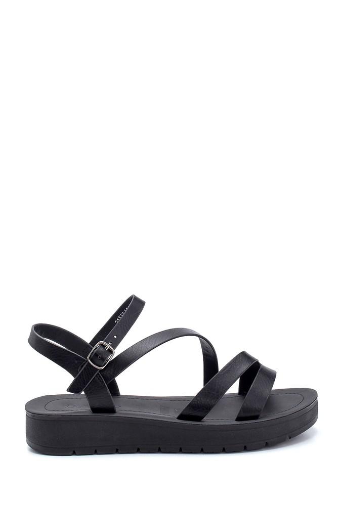 Siyah Kadın Casual Sandalet 5638263039