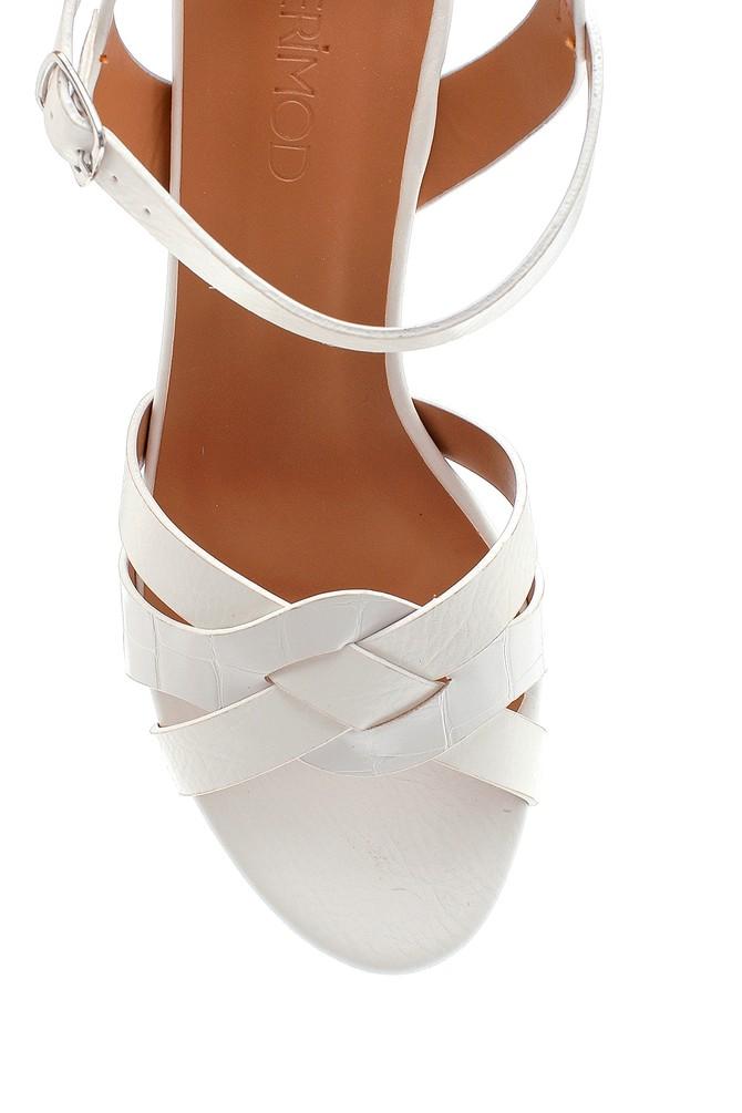 5638263423 Kadın Kalın Topuklu Sandalet