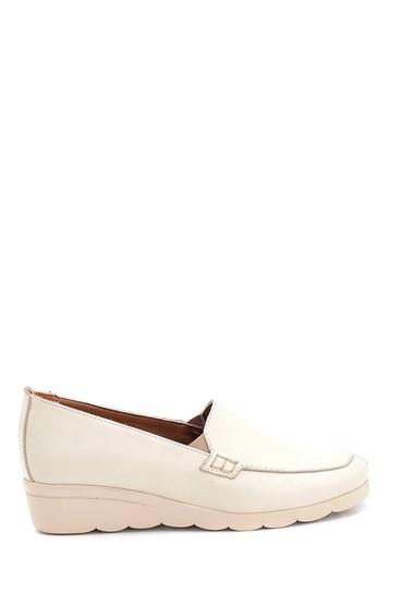 Bej Kadın Casual Deri Ayakkabı 5638298117