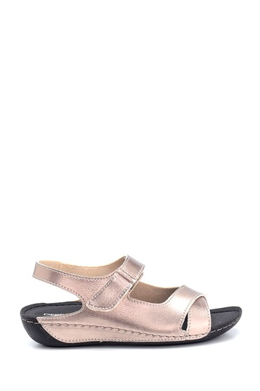 Platin Kadın Dolgu Topuklu Casual Sandalet 5638305791